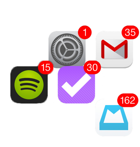 Various notification icons